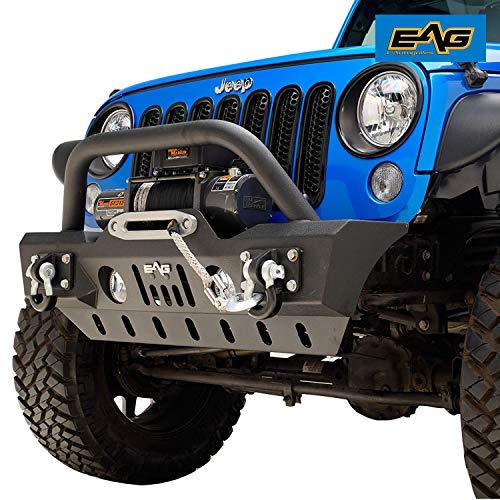 EAG Skid Plate Front Bumper JJKFB003 Fit for 2007-2018 Jeep Wrangler JK