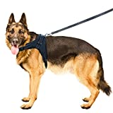 #5: Hhusali Dog Harness, Dog Body Padded Vest - Leash Included, Reflective, Adjustable Harness With Handle. No-Choke, No-Slip. Excellent for Training, Walking, Hiking. No-Pull Effect.
