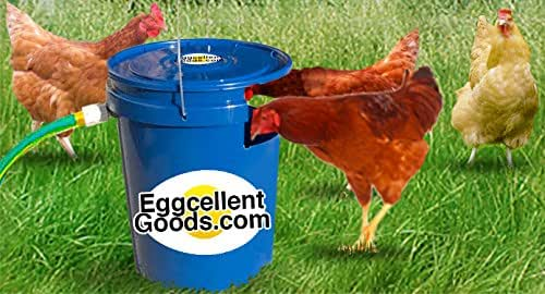 Eggcellent Goods Automatic Chicken/Poultry Waterer. Connect Garden Hose, Done! Keeps Water Clean & Ready to Drink Anytime