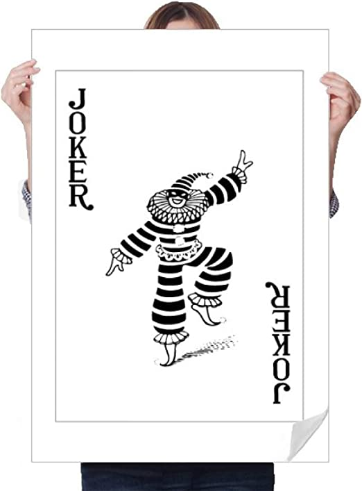 Amazon Com Diythinker Black Joker Playing Cards Pattern Sticker Decoration Poster Playbill Wallpaper Window Decal Home Kitchen
