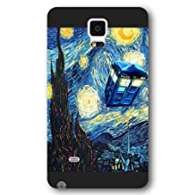 UniqueBox - Customized Black Frosted Samsung Galaxy Note 4 Case, Doctor Who Tardis Blue Police Call Box Samsung Note 4 case