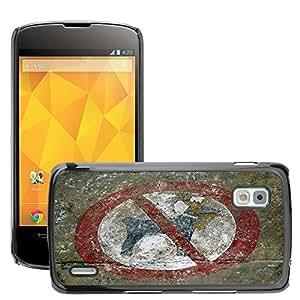 GoGoMobile Slim Protector Hard Shell Cover Case // M00123789 Dogs Ban Dog Ban Shield Prohibited // LG Nexus 4 E960