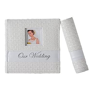 Profolio 4-Inch-by-6-Inch Leatherette Wedding Photo Album Cover - White
