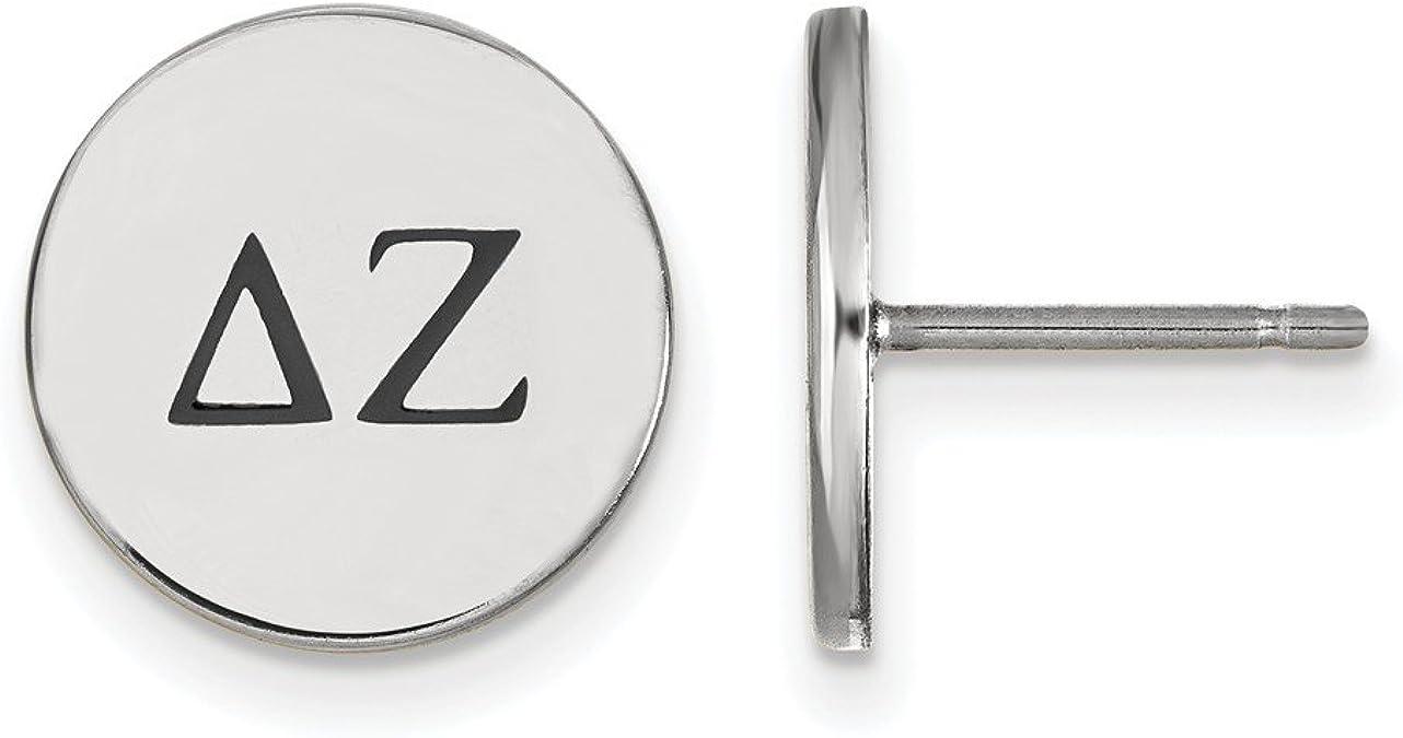 925 Sterling Silver LogoArt Delta Zeta Enameled Post Earrings