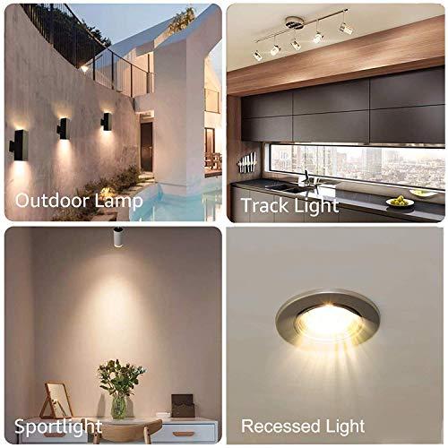 GU10 Bulb, 6 Pack Halogen GU10 120V 50W, Dimmable, MR16 GU10 Light Bulb with Long Lasting Lifespan, gu10+c 120v 50w for Track&Recessed Lighting, Gu10 Base Bulb, W50MR16/FL/GU10