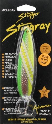 Advance Tackle Michigan Stinger Stingray Glow Limon Green/Yellow 3-Hook Fishing Lure by Advance - Michigan Stinger
