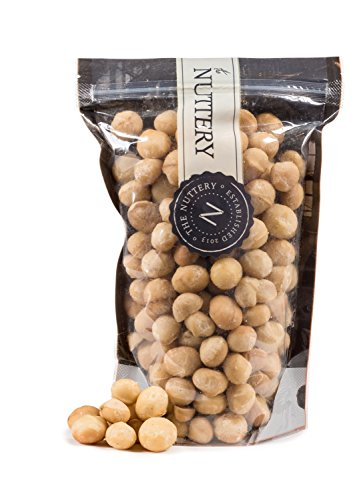 The Nuttery Premium Macadamia Nuts 16 Ounce Pouch Bags (Raw Macadamia)