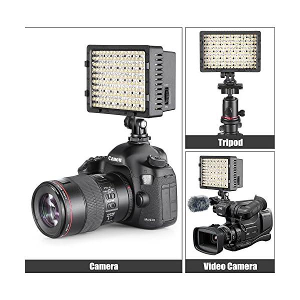 Neewer Pannello LED 160pcs da Potenza Ultra Alta Regolabile per Camera Digitale/Videocamera Video Luce/Luce LED per… 5 spesavip