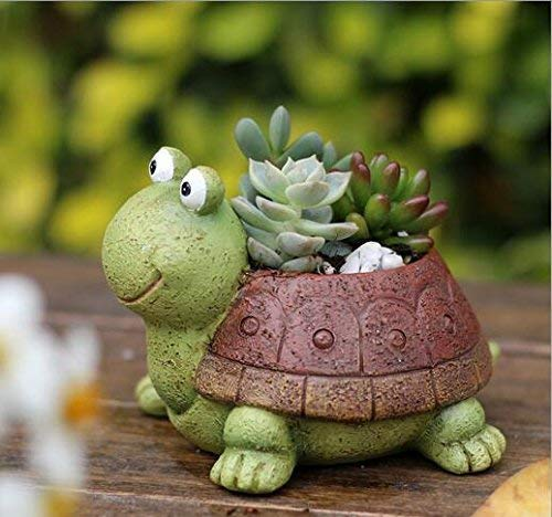 Cute Animal Plant Pots Cartoon Shaped Succulent Vase Flower Pots,Container,Home Decoration Planter Pots,Desk Mini Ornament ()