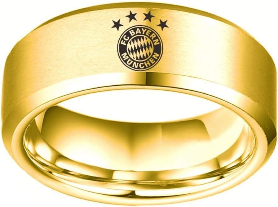 WONS Ringe Fu/ßball Sport Fans Sammlung Ring Hoch Qualit/ät Legierung Ring Zum M/änner Frau Fein Verarbeitung//golden//Nummer 7