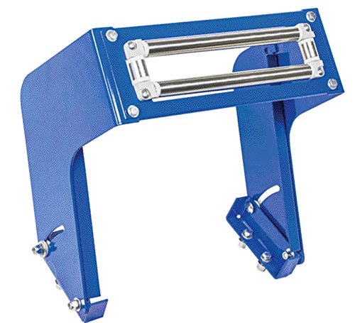 (Coxreels 15353-12 Powder Coated Steel Top Rewind 4-Way Roller Bracket for 1125 and 1275 Series Hand Crank and Motorized Hose Reel,Blue, 12