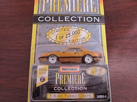 1995 - Tyco - Matchbox Premiere Collection - World Class Series 2 - T-Bird Turbo Coupe - Gold - #34361-1 - 1 of 25,000 - 1:64 Scale Die Cast - Out of Production - New - Limited Edition - - Tyco Corvette