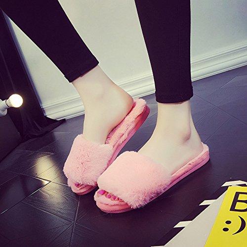 la home spessa Fankou invernale soggiorno 37 selezionare 36 pantofole rosso femmina parola cotone trascinare pantofole e di cocomero 0wwfqP