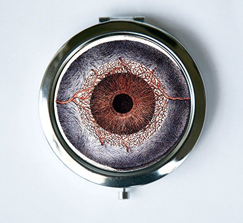 Eye Compact Mirror Pocket Mirror Arteries of the Iris veins Medical Drawing victorian