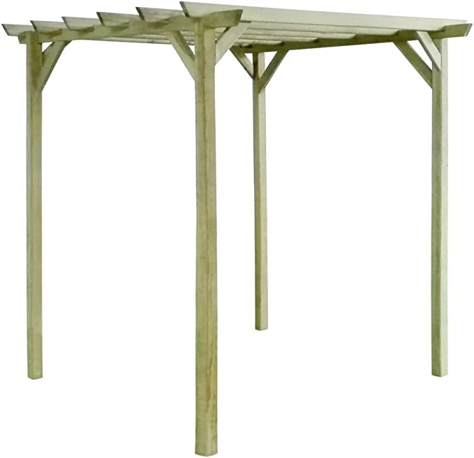 festnight jardín pérgola de madera Arcos para al aire libre Patio 200 x 200 x 200 cm): Amazon.es: Hogar
