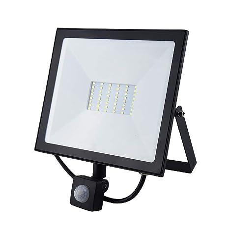 Bonlux Led Motion Sensor Security Flood Light 50w 500w Halogen Equivalent Outdoor Led Work Light Daylight 6000k 120v Landscape Led Wall Light