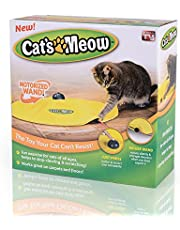 ToMill Kattleksak underskydd nylontyg rörlig mus interaktiv lek mjau kattunge rolig kreativ husdjur valp leksak
