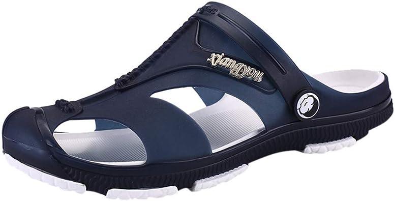 Men/'s Casual Hollow-out Sandals Slipper Shoes Closed Toe Outdoor Beach Pool Aqua