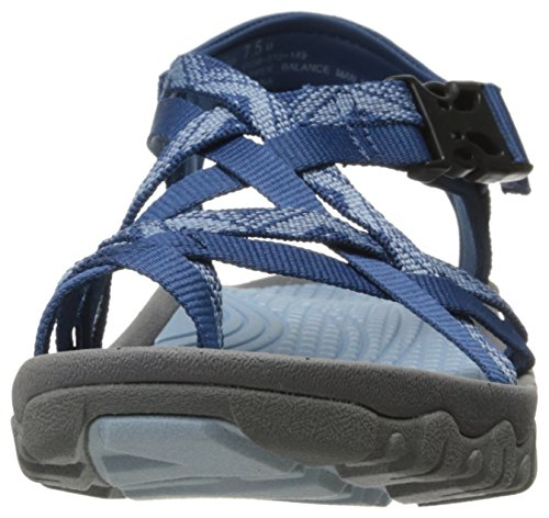 Baretraps Kvinnor Tema Gladiator Sandal Marinblå