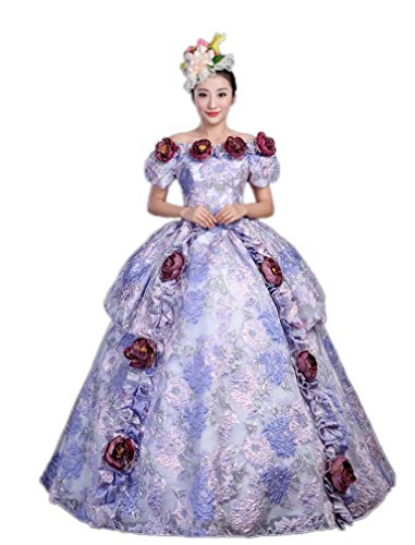 Zukzi Women's Gothic Victorian Lolita Masquerade Dresses Ball Gowns, Customized, #Y221 by Zukzi