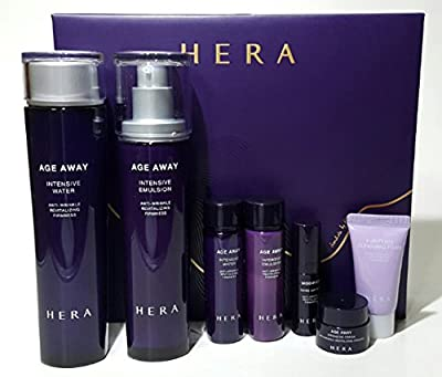 Hera Age Away 3-piece Set(Age Away Vitalizing Water 150ml & Age Away Vitalizing Emulsion 120m & Age Away Modifier 20ml)