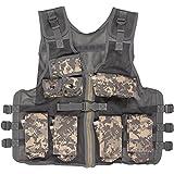 Modern Warrior Junior Digital Camo Tactical Vest Fits 50-125-Pounds