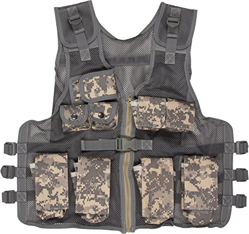 Modern Warrior Junior Digital Camo Tactical Vest Fits 50-125-Pounds (Tactical Camo Digital)