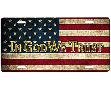 onestopairbrushshop in God We Trust License Plate