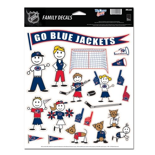 "Columbus Blue Jackets Official NHL 11""x17"" Family Car Decal"