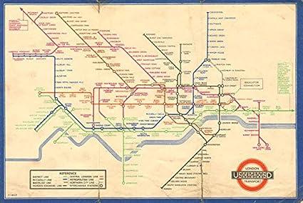 Cartina Geografica Di Londra Da Stampare.Pianificazione Metropolitana Di Londra Circolo Medio Harry Beck 1 1937 Mappa Vintage Antica Mappe Stampate Di Londra Amazon It Casa E Cucina