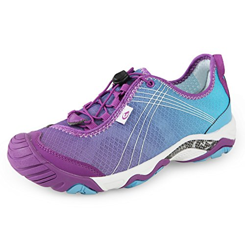 Clorts Women's Water Shoe Closed Toe Quick Drying Hiking Sandal Purple 3H020C US9