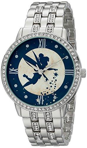 (Disney Women's W001830 Tinker Bell Analog Display Analog Quartz Silver Watch)