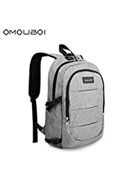 OMOUBOI Laptop Backpack, Business Anti Theft Waterproof Travel Backpack with USB Charging Port & Headphone Interface for College Student for Women Men,Fits Under 17-inch Laptop Notebook by
