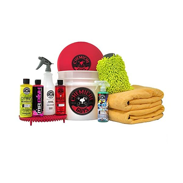 Chemical Guys HOL132 Best Car Wash Bucket Kit, With Dirt Trap (11 Items), 16. Fluid Ounces