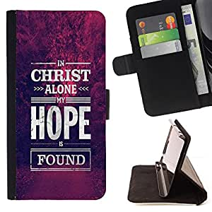 - Christ Hope God Christian Purple - - Prima caja de la PU billetera de cuero con ranuras para tarjetas, efectivo desmontable correa para l Funny HouseFOR LG G2 D800