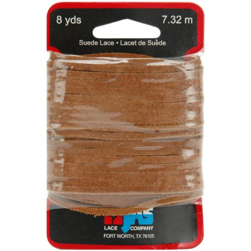 Tandy Leather Factory 1/8-Inch Wide Solid Suede Lace with 8-Yard Carded, Light Rust