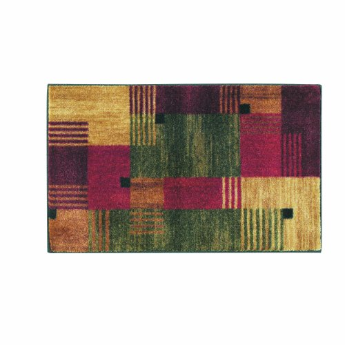 Family Room Ideas - Make quick & easy changes to any room in your home in minutes by changing the rug - add color & patterns = Mohawk Home New Wave Alliance Printed Rug, 1'8x2'10, Green