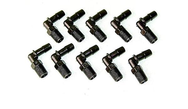 HHO KIT 10 x 1//4 3//8 HPT ELBOW MALE PLASTIC NYLON