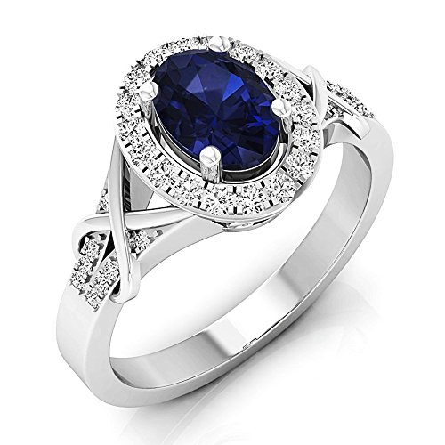 10K-Gold-Oval-Cut-Blue-Sapphire-Round-Cut-Diamond-Bridal-Split-Shank-Halo-Engagement-Ring