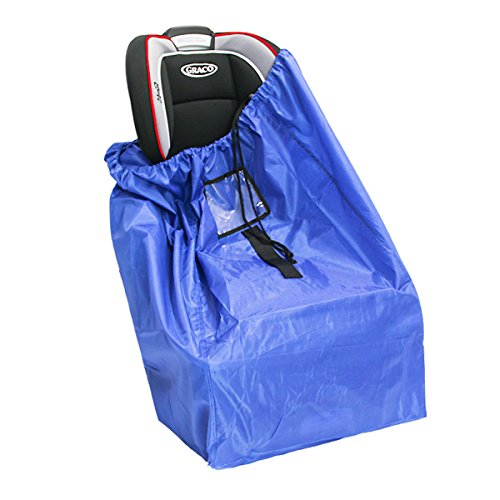 - Car Seat Travel Bag Gate Check Bag for Air Travel Airplane Bag Fits All Toddler & Infant Car Seats with Padded Shoulder Straps Easy to Carry Padded Backpack Check Your car seat in Flight (210D Blue)