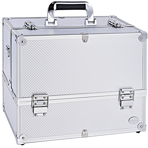 "Makeup Case 6 Trays Large 14"" x 8.5"" x 11"" Premium Professio"