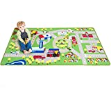 "Kids Play Car Rug - Community Carpet Mat Large, 78"" x 39"""