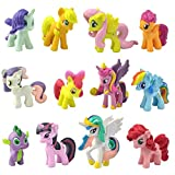 PD Store New 12 Pieces Little Pony Figure Set PVC Toy Cake Topper Twilight Sparkle USA Fast Ship