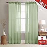 Best Home Fashion Sheer Curtains - Sheer Curtains for Living Room Sage Green 84 Review