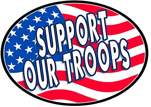 Support Our Troops Magnet For Car or Home 3-3/4 by 5-1/4 inches