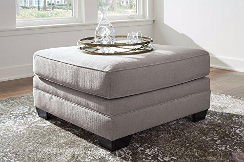 Palempor Contemporary Pebble Color Microfiber Oversized Accent Ottoman by FurnitureMaxx