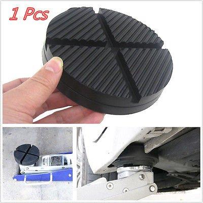 FidgetFidget Floor Jack Disk Pad Adapter 1 X Black Rubber Car Truck Cross Slotted Frame Rail