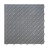 "Craftsman Interlocking Diamond Garage Flooring 15.75"" x 15.75"" x 0.65 Tiles (Grey, 6 Pack)"