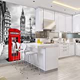Red London Phone Booth Westminister Background City Wall Mural Photo Wallpaper available in 8 Sizes Gigantic Digital