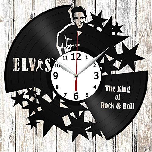 Elvis Presley Vinel Record Wall Clock Home Art Decor Unique Design Original Gift Handmade Vinyl Clock Black Exclusive Clock Fan Art